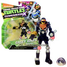 """Playmates Teenage Mutant Ninja Turtles TMNT Dimension X Series 5"""" Tall Action Figure - Space Vigilante CASEY JONES with Helmet"""