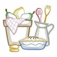 Vintage Kitchen Machine Embroidery Projects, Free Machine Embroidery Designs, Custom Embroidery, Applique Designs, Dish Towel Embroidery, Embroidery Thread, Diy Arts And Crafts, Fabric Painting, Line Drawing