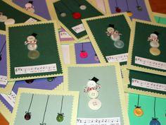 Perlenhuhn: Selbstgemacht: Weihnachtskarten mit Knöpfen