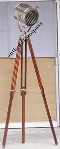 Have one to sell? Sell now Studio Photography Spot Floor Lamp Search Light With Wooden 2 Fold Tripod Stand Total Height : 183 cm ,  Front Dia : 23.5 cm ,  Ear to Ear : 30.5 cm,  Front to back : 24 cm
