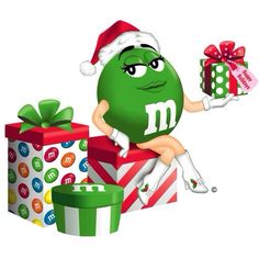 From my awesome sister, Debbie! Christmas Labels, Merry Christmas, Green Christmas, Christmas Cards, Chocolates M&m, Welcome Images, M&m Characters, M & M Chocolate, M Wallpaper