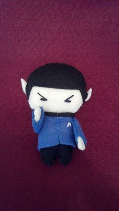 Star Trek Spock Pocket Plush Doll by WordsToSewBy on Etsy