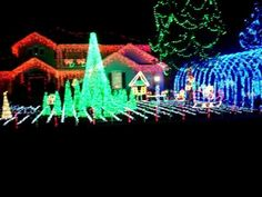 "Christmas lighting video plays along to Elvis's ""Santa bring my baby back to me"".  This is 1 hr south of where I live, I wonder if they do this every year?  I know that my 7 yr old daughter would love to go and see this  : )"