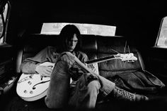 Neil Young rehearsing backstage at the Spectrum, Philadelphia, June 1970.