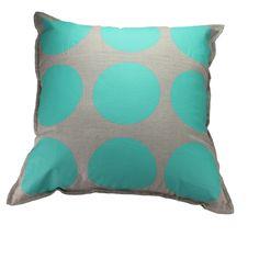 Aqua spots cushion