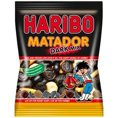 -in USA- Haribo MATADOR Dark Mix- Licorice gummies- 375g