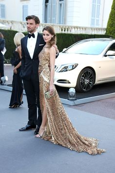 Johannes Huebl and Olivia Palermo (in Roberto Cavalli) during the 2013 Cannes Film Festival