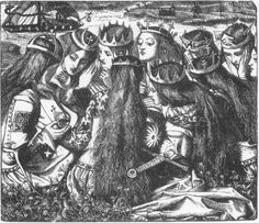 Rossetti King Arthur and the Weeping Queens - Dante Gabriel Rossetti - Wikipedia, the free encyclopedia