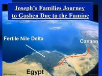 Photo map showing the journey of Joseph's family to Goshen.