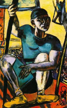 Acrobat on Trapeze (1940) by Max Beckmann ~Via Mauricio Alfonso Naya