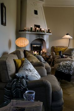 love those couches!! can you say comfy?