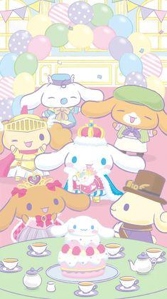 Character Creator, Character Design, Sanrio Wallpaper, Pink Cheeks, White Puppies, Sanrio Hello Kitty, Sanrio Characters, Stay Happy, Cute Wallpapers