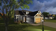 Bungalow Cottage Elevation of Plan 75237