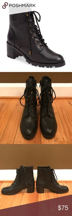 Black Joie Ashbury Combat Boots Size 38.5! This classic pair of Joie black leather Ashbury combat boots are both stylish and comfortable. These boots also feature a side zip and an approximate 2.5 inch heel and rubber sole. They are in excellent used condition and are a size 38.5. Do not include original box but are 100% authentic. MSRP $415 Joie Shoes Combat & Moto Boots