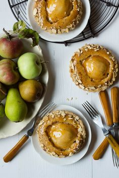Pear and Cardamom Frangipane Tarts