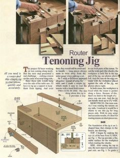 #2665 Router Tenon Jig Plans - Joinery