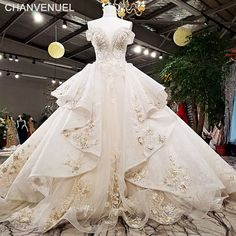 2018 Luxury wedding dress off shoulder ball gown lace up back champagne . 2018 Luxury wedding dress off shoulder ball gown lace up back champagne bridal wedding gowns with long train as . Western Wedding Dresses, Luxury Wedding Dress, Dream Wedding Dresses, Bridal Dresses, Wedding Gowns, Off Shoulder Ball Gown, Champagne Dress, Photos, Trendy Wedding