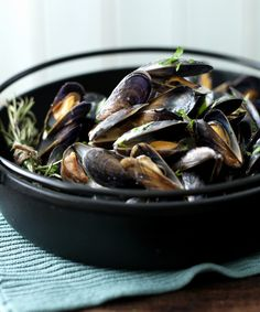 The classic way with mussels - cream, wine, garlic. Oh yeah.