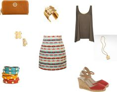 """""""Tory Burch with a Taste of Tribal"""" by leradulescu on Polyvore"""