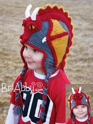Crochet dragon hat that will blow people's minds! You can purchase the hat now or buy the pattern starting Monday, March 3rd! Like us on facebook at www.facebook.com/BriabbyHats to see new releases and participate in giveaways!