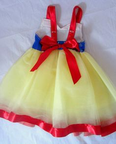 Snow White Birthday Party Princess Dress red blue by KnottedWear, $39.95