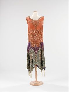 Evening dress Callot Soeurs  Designer: Madame Marie Gerber  Date: ca. 1923 Culture: French Medium: silk, metal, pearl Accession Number: 2009.300.3187