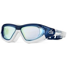 Aquazone Swimming Goggles with Super-Wide Hard Frame, Adjustable Straps, Continuous Seal, UV Protection, Earplugs and Carry Case
