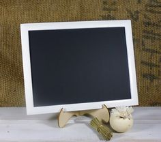 Framed Chalkboard with STAND Included 11x8.5 Chalk by ChalkStyle, $18.95
