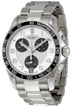 Men's Wrist Watches - Victorinox Swiss Army Chrono Classic Silver Dial Mens Watch 241495 *** Be sure to check out this awesome product. (This is an Amazon affiliate link)