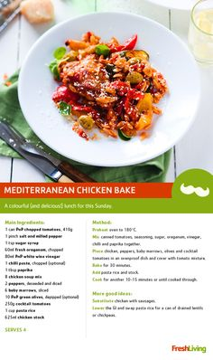 Dad rules the roost. So this Father's Day, why not spoil him with a Mediterranean chicken bake? #dailydish #picknpay #freshliving #fathersday