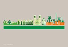 Illustrationen für die Provinzial NordWest on Behance Illustration, Behance, Movie Posters, Movies, Concept, Vest, Architecture, Films, Film Poster