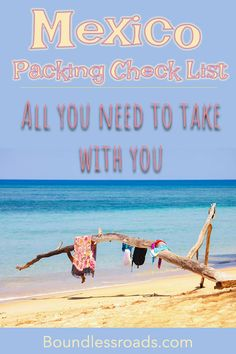 The ultimate Mexico Packing Check list, for a beach destination. The essential and what to wear for the beach, and daily tours. Everything you need to know before you leave. Cozumel Mexico, Mexico Vacation, Mexico Travel, Smart Packing, Packing List For Travel, Packing Lists, Puerto Vallarta, Travel Hacks, Travel Guides