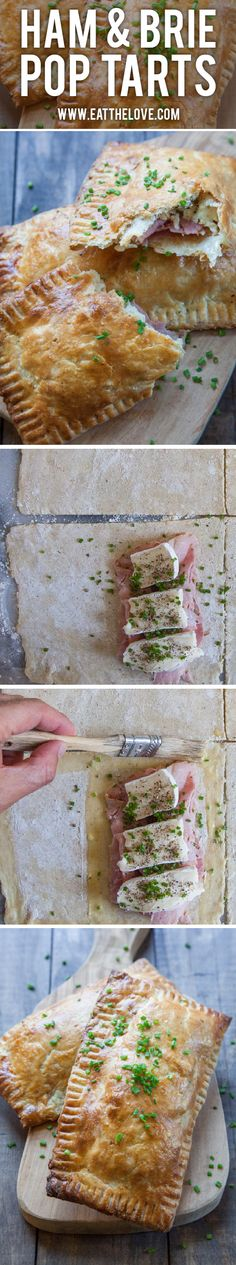 These ham & brie pop tarts (or hand pies!) from @eatthelove are as fun as they are delicious!