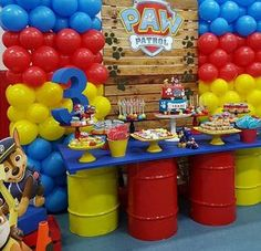"Stylish Events & Weddings on Instagram: ""Paw patrol themed party for a very lucky little boy last night. @jezelleshairandbeauty Styling @stylish_events_decorations Table &…"""