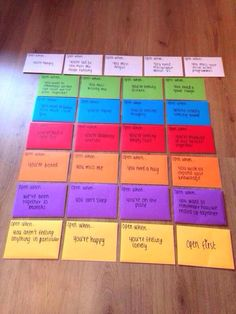Cute idea for when you're going on a long trip
