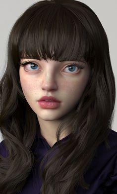 girlface_render, soojong kim on ArtStation at https://www.artstation.com/artwork/587492