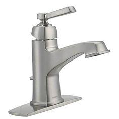 Moen 84805SRN Single Handle Single Hole Bathroom Faucet from the Boardwalk Collection, Spot Resist Brushed Nickel Moen http://www.amazon.com/dp/B00CF4IIF8/ref=cm_sw_r_pi_dp_wGqWwb1ABE07Y