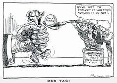 treaty of versailles cartoon