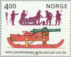 Sello: Artillery weapons (Noruega) (Artillery weapons) Mi:NO 922,Yt:NO 878,AFA:NO 931