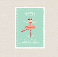 Ballerina Party Invitation 1st 2nd 3rd 4th 5th by BonjourBerry, $16.00