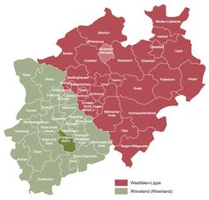 example 5 map of the two regional authorities in north rhine westphalia this catchy map demonstrates the regional authorities rhineland green and