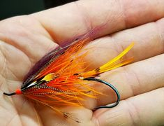 A little bug to ply the waters of the Skeena. Tyed on a Alec Jackson 3/0 Whipping some up for a friend heading out in a few months. By Allen Landheer