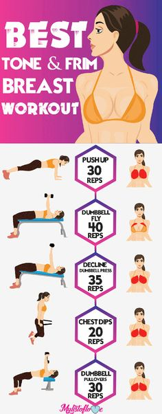 5 best exercises to get toned and firm breast #fitness