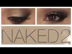 Shimmery & Smokey Eye Naked 2 Tutorial - I like how she did her eye liner.