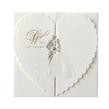 embossed wedding couple - wedding invitations