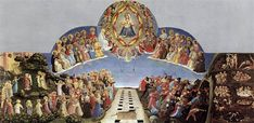 The Last Judgment (tempera on panel) is a painting by the Renaissance artist Fra Angelico. Fra Angelico, Renaissance Kunst, Renaissance Artists, Religious Paintings, Religious Art, Tempera, Saint Dominique, The Last Judgment, Noli Me Tangere