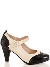 New Arrivals - Lindy Hop Heeled Maryjane Saddle Shoes by Chase & Chloe Shoes Shoes