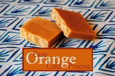 Orange Cold Process Soap Recipe colored with Paprika!