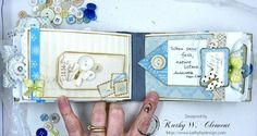 Winter Hues Mini Album with G45 Place in Time for Frilly and Funkie Challenge by Kathy Clement