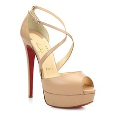 CHRISTIAN LOUBOUTIN Cross me leather platform sandals